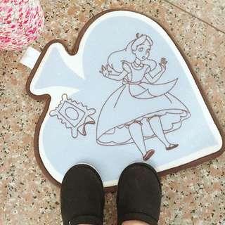 🚚 日本🇯🇵愛麗絲咖啡滾邊黑桃踏墊♠️