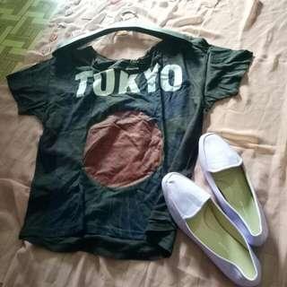 Paket kaos+sepatu size 38