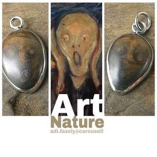 "SUPER DUPER RARE : ""When Nature Meets Art"" Kayu Gemunggal Emas 3 PUSAR (Painting by Edvard Munch / The Scream) 2 Stock Only"