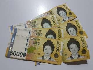 South Korean Won (KRW) Exchange SGD Notes (Travel Korea)