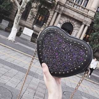 Blissful Glitz Hearts Cross-body bag (PO)