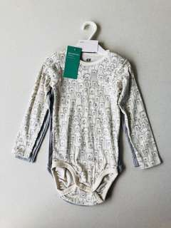 H&M 2-pack long-sleeved bodysuits