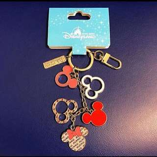 Brand new, limited edition Disneyland HK Mickey Minnie Mouse key chain stainless steel: cheap