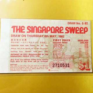 Singapore big sweep 05/1982