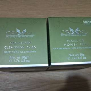 Organi cleansing mask & Manila Honey peel
