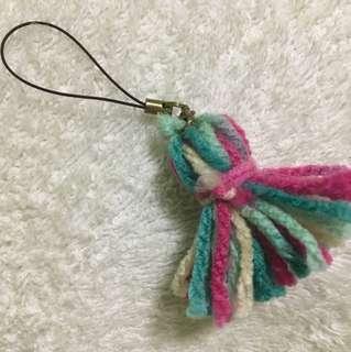 Handmade tassel keychain