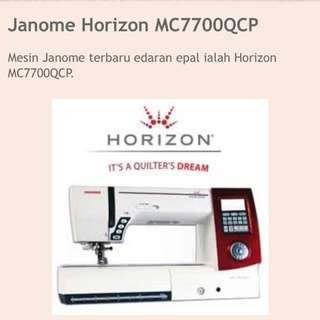 Sewing Machine Janome MC7700QCP