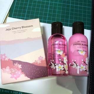 Innisfree jeju cherry blossom set