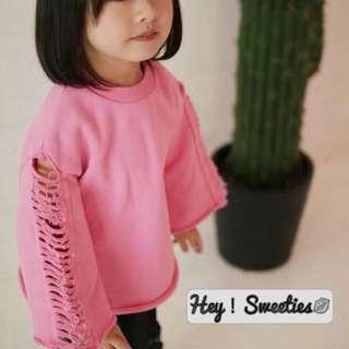 韓國 女童 上衣 衛衣 春裝 新款 2018