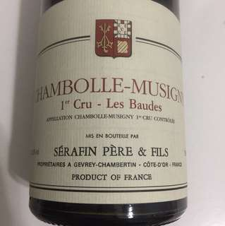 Chambolle-Musigny 1er Cru Les Baudes 2014