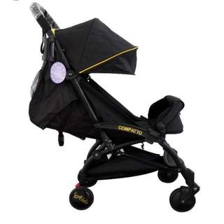 Aldo Compatto Stroller Black / Gold