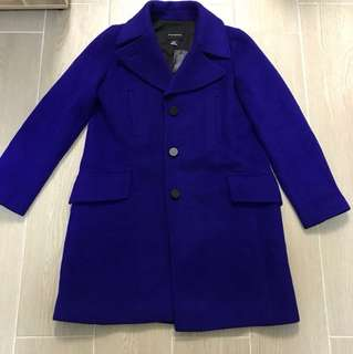 Club Monaco 80% Laine Wool Purple Blue coat original price HKD3,990 Now sales$950