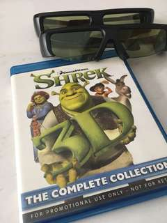 Shrek 3D Blu-ray with 3D goggles