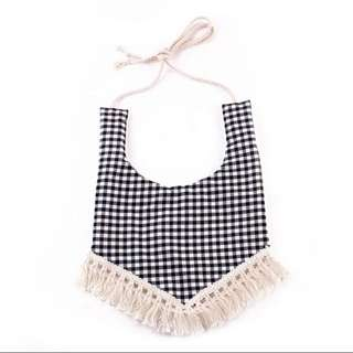 Cotton tassel baby bibs