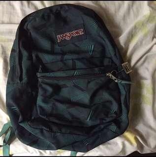 Jansport Backpack - Blue w Geometric Design