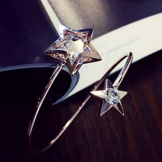 Korean style of Delicate crystal bangle for her