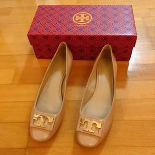 全新Tory Burch 祼色女裝粗踭鞋 Gigi Pumps US 9