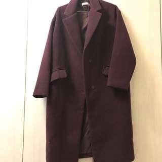 正韓毛呢外套 版型很挺顯瘦