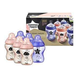 Tommee Tippee 260ml/9oz CTN Bottles (6 with box)