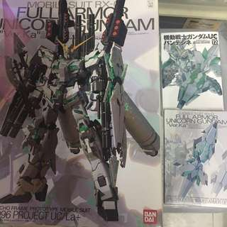 MG 1/100 Unicorn Gundam  Full Armor 連大盾 Shield Booster 限定