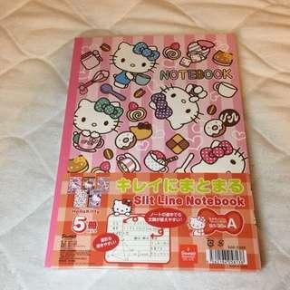 日本東京限定特別版Hello Kitty Notebook 5本