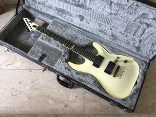 ESP Standard Series Horizon NT II Made In Japan Discontinued Rare Active EMG Pickups Neck Thru Electric Guitar Rare Cream