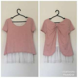 Tulle Contrast Top