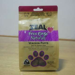 Zeal Free Range Venison Puffs Dog Treats (85g)