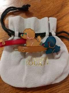 Alexandre Zouari 可愛小狗髮夾 一对出售