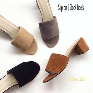 Slip On | block heels