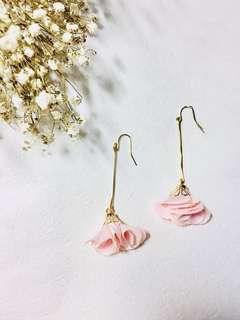Handmade Pink flower earring