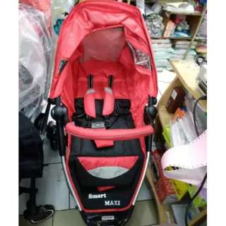 STROLLER BABY ELLE SMART MAXI Best Seller Kereta Dorong Bayi Roda 3