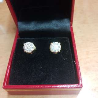 1ct each real dia 14kgold