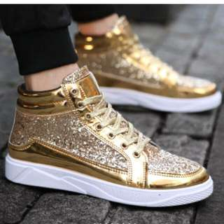 Boots - New Korean Fashion Trend High-Top Flat Shoes men's