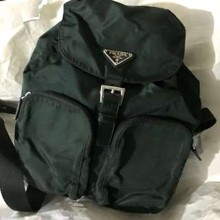 Authentic Prada Backpack Dark Green NOT Gucci Hermes Celine Dior Fendi