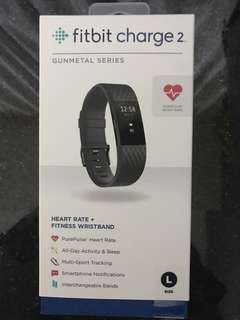 Fitbit charge 2 (Gunmetal series) size L