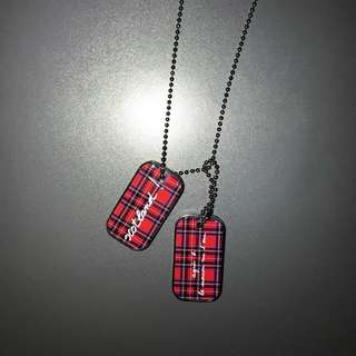 agnes b 軍牌 頸鏈 necklace dog tag