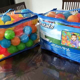Very good condition... Coloured plastic balls