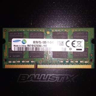 SAMSUNG 8GB SODIMM DDR3 RAM 1600MHZ