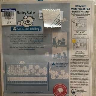 "Babysafe Waterproof Pad mattress Protector 27"" x 52"" (68cm x 132cm)"