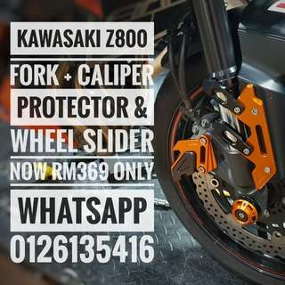 Thanks for support brother z800 Kawasaki z800 fork + caliper protector & wheel slider now rm369 only whatsapp 0126135416