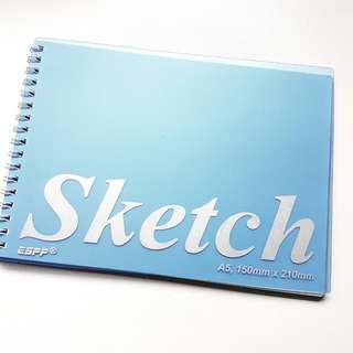$2.50 MAILED blue pp sketch book