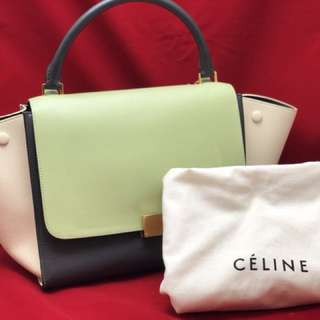 Celine Medium Tricolor Trapeze Bag