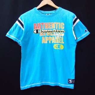 Kaos T-Shirt Champion Authentic Blue Vintage