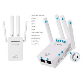 5 In 1 ~ 2.4Ghz 300M Wall Plug Portable Mini WiFi Wireless with External 全新加強版4支天線多功能5合1 Wifi Repeater / Router