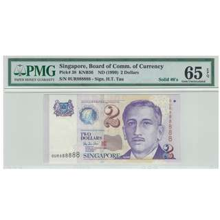 0UR 888888 Solid 8s Singapore Portrait series $2