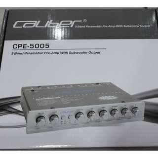 嘉利堡汽車音響CPE-5005均衡器/五段EQ音效調節器/音質調節