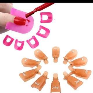 10PC Nail Art Soak Off Cap Clip Remover + 26pcs Model Spill Proof Protector OR MA11dropship