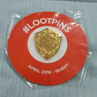 Legit Brand New Sealed Loot Crate Quest Gold Small Pin