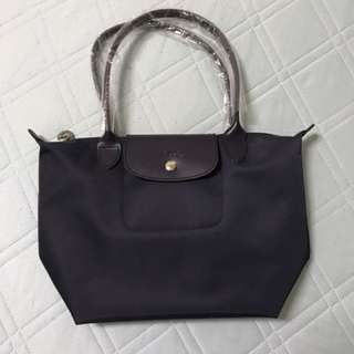 《全新品》Longchamp 厚版深藍色 長把S